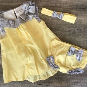 3pc Set Dress set perfect for Easter